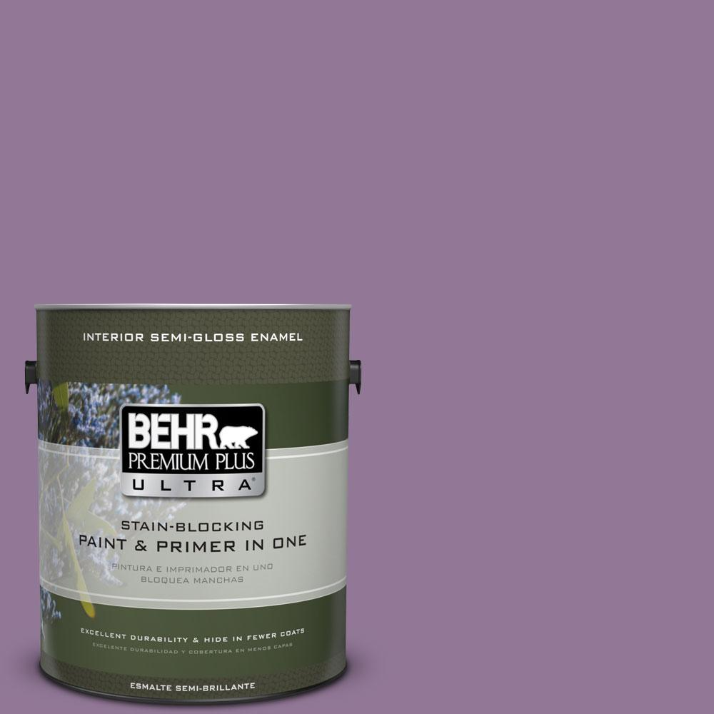 BEHR Premium Plus Ultra 1-gal. #M100-5 Passion Fruit Semi-Gloss Enamel Interior Paint