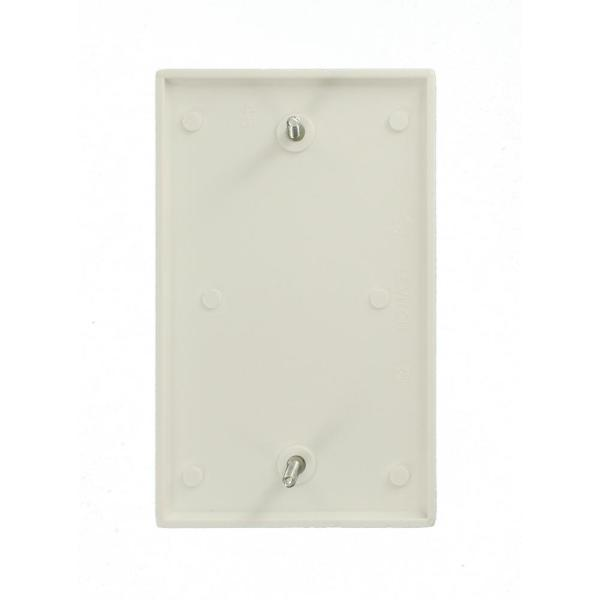 Leviton Ivory 1 gang Plastic Blank Wall Plate 1 pk Pack of 25
