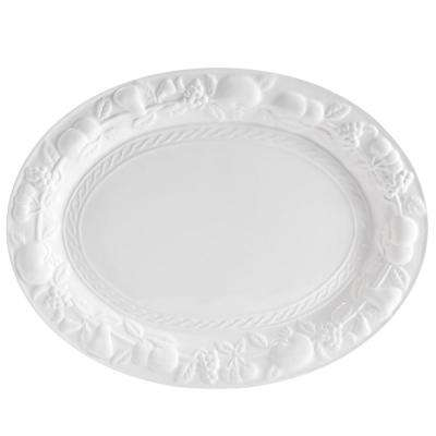 1-Piece White Fine Ceramic Banquet Platter Set