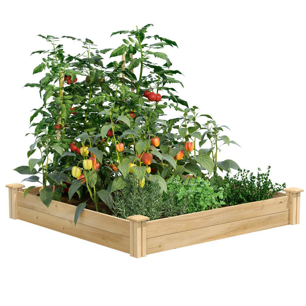 Greenes Fence 4 ft. x 4 ft. x 7 in. Original Cedar Raised Garden Bed