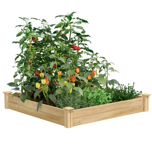 4 ft. x 4 ft. x 7 in. Original Cedar Raised Garden Bed