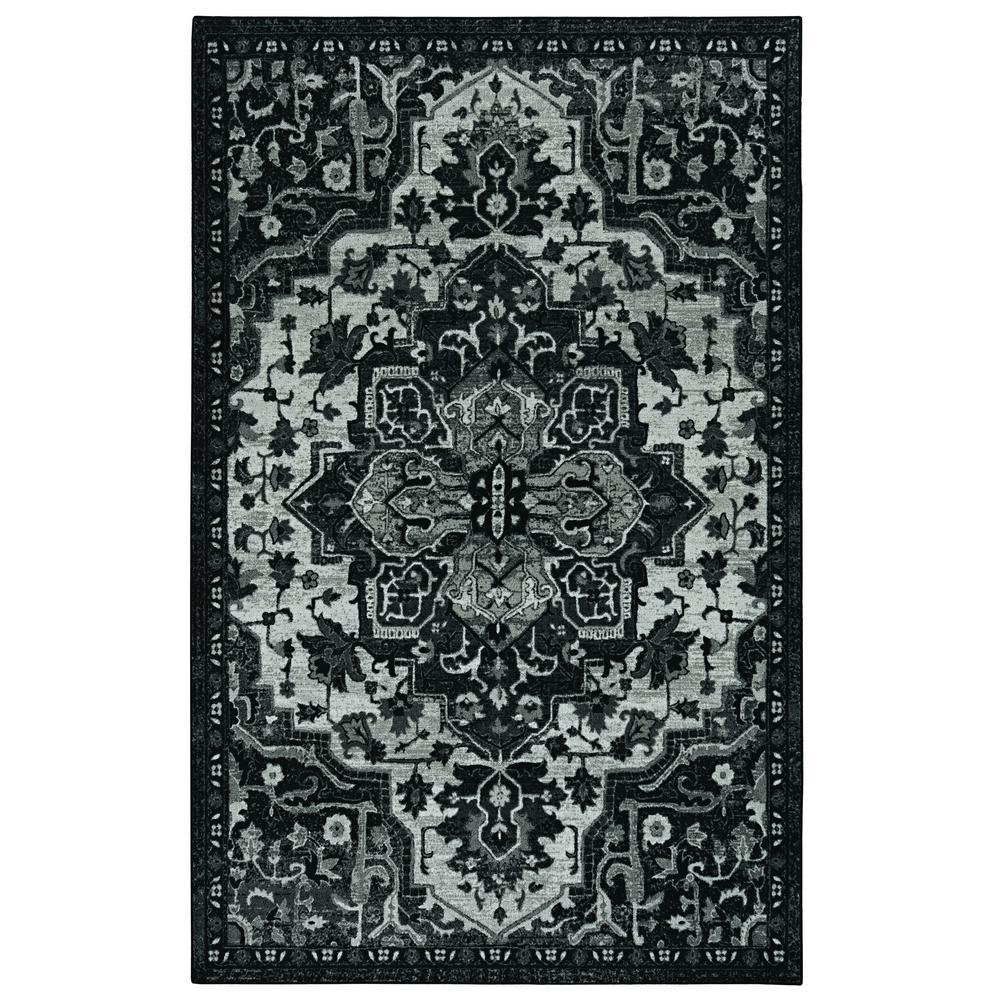Emiko Black 10 ft. x 14 ft. Ornamental Area Rug