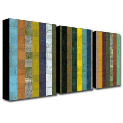 Wooden Abstract VII by Michelle Calkins 3-Panel Wall Art Set