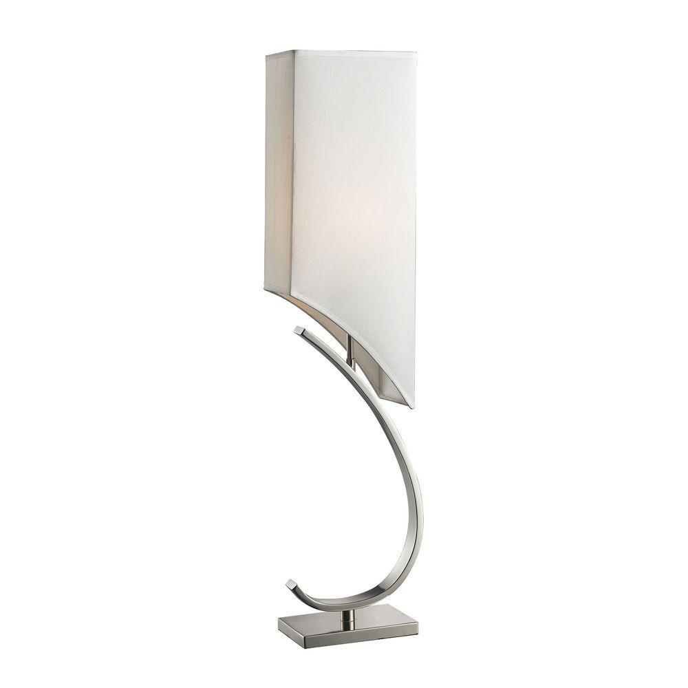 Titan lighting 36 in appleton table lamp in polished nickel with titan lighting 36 in appleton table lamp in polished nickel with pure white shade arubaitofo Gallery