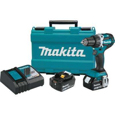 18-Volt LXT Lithium-Ion Compact Brushless Cordless 1/2 in. Driver-Drill Kit w/ (2) Batteries (5.0Ah), Charger, Hard Case