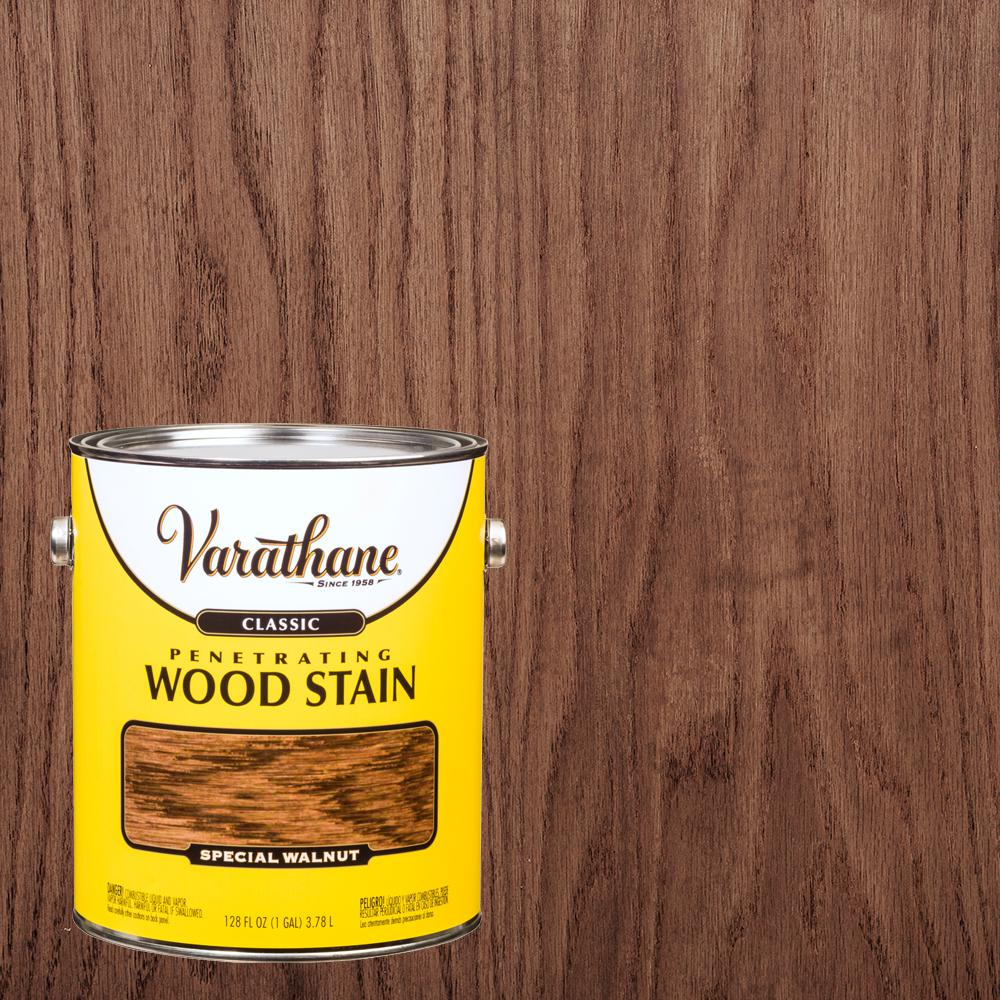 Varathane 1 Gal Special Walnut Classic Wood Interior Stain 340623 The Home Depot