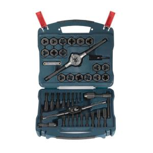Click here to buy Bosch Black Oxide Tap and Die Set (40-Piece) by Bosch.