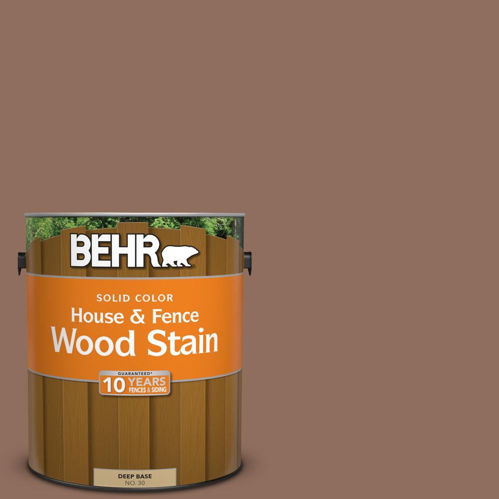 Behr 1 Gal Sc 148 Adobe Brown Solid Color House And Fence Exterior