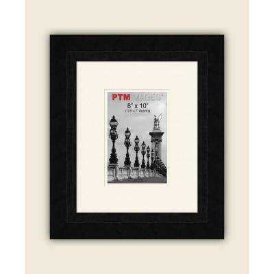 1-Opening 5 in. x 7 in. White Matted Black Photo Collage Frame