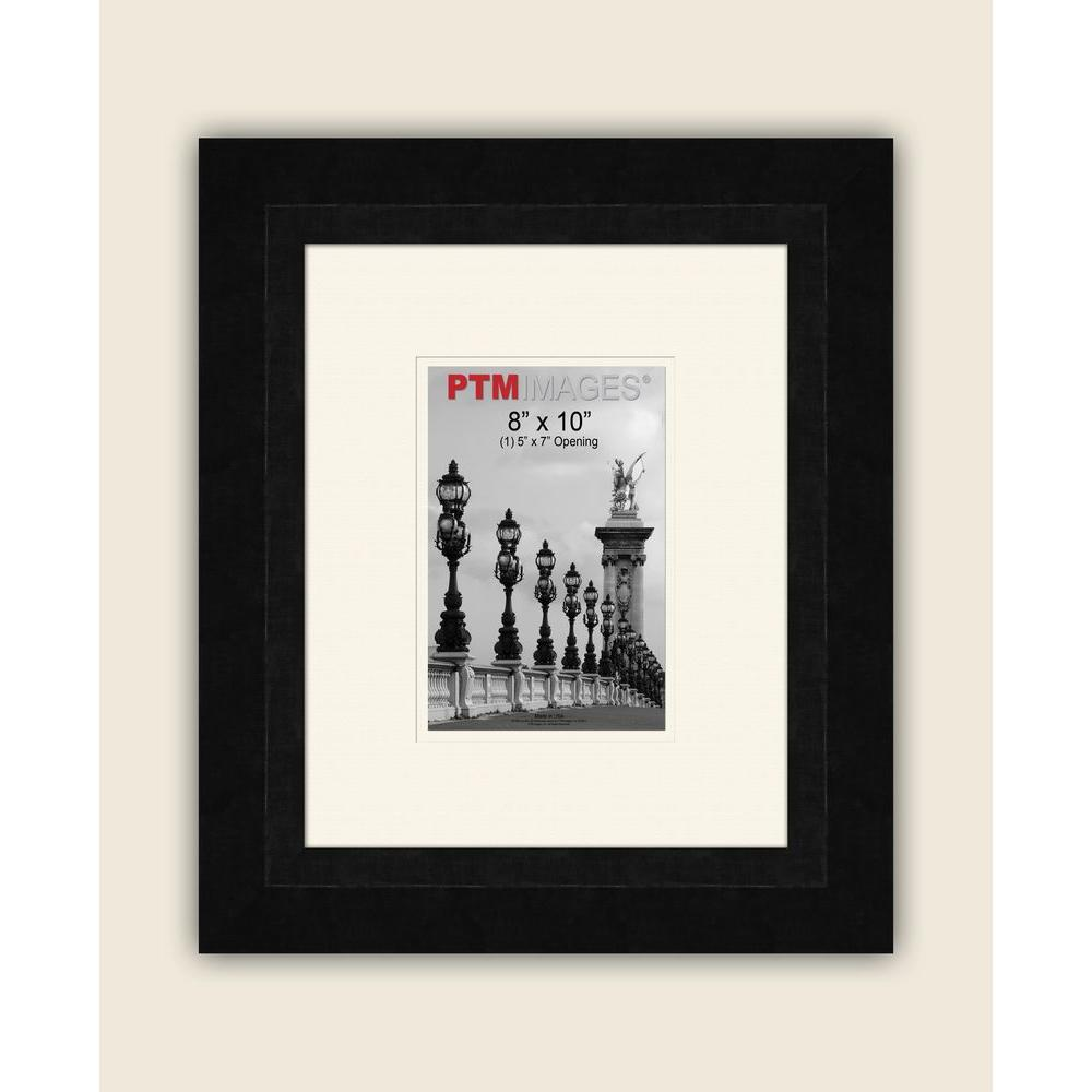 PTM Images 1-Opening 5 in. x 7 in. White Matted Black Photo Collage Frame
