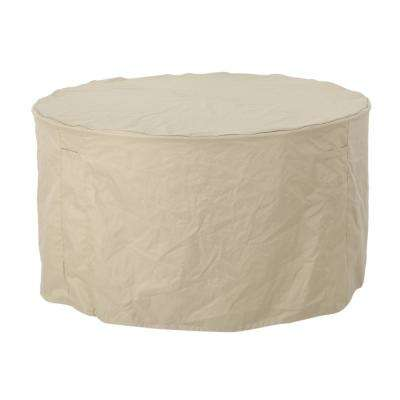 Shield Beige Fabric Round Dining Set Cover