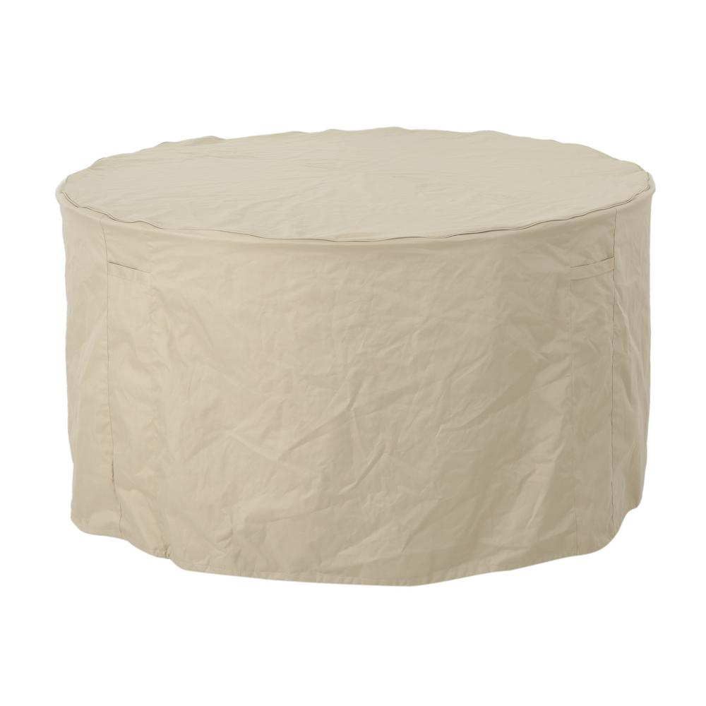 Noble House Shield Beige Fabric Round Dining Set Cover was $69.63 now $43.17 (38.0% off)