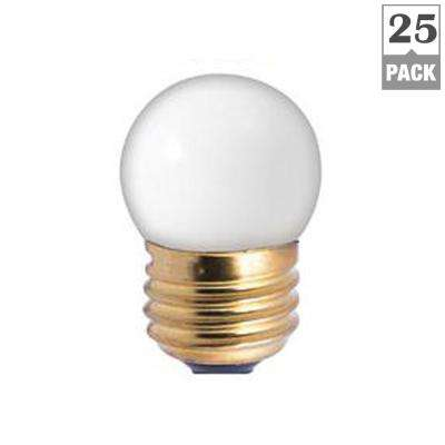 7.5-Watt S11 Ceramic White Dimmable Warm White Light Incandescent Light Bulb (25-Pack)