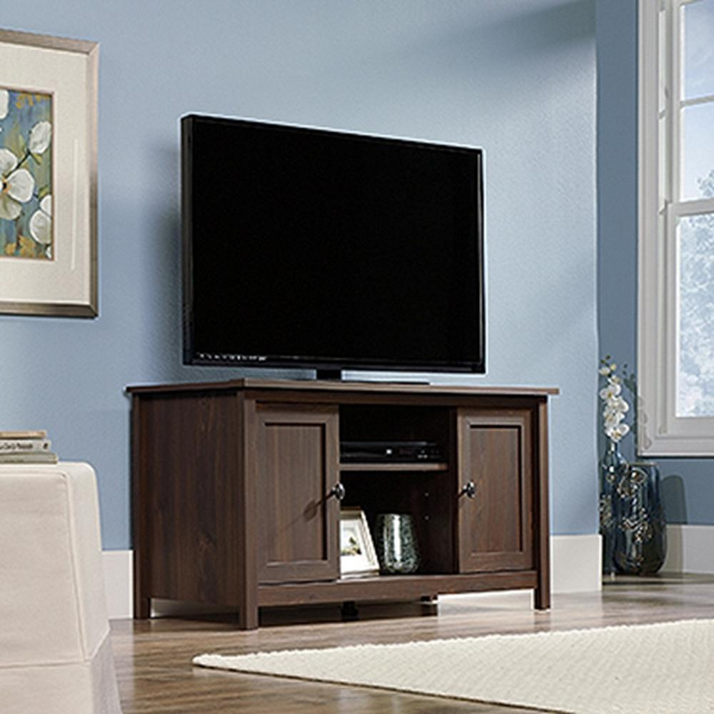 SAUDER County Line Rum Walnut Storage Entertainment Center