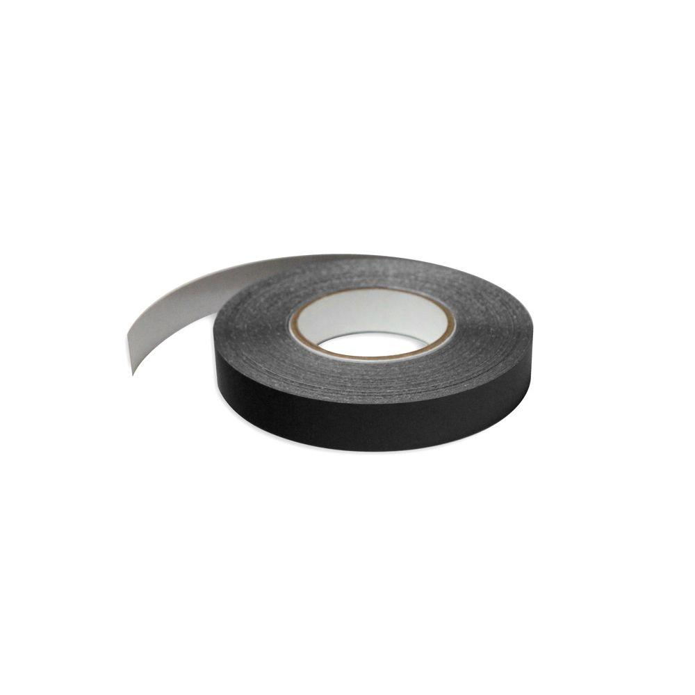 1 in. Wide x 100 ft. Long Roll Deco-Tape Black Self-Adhesive