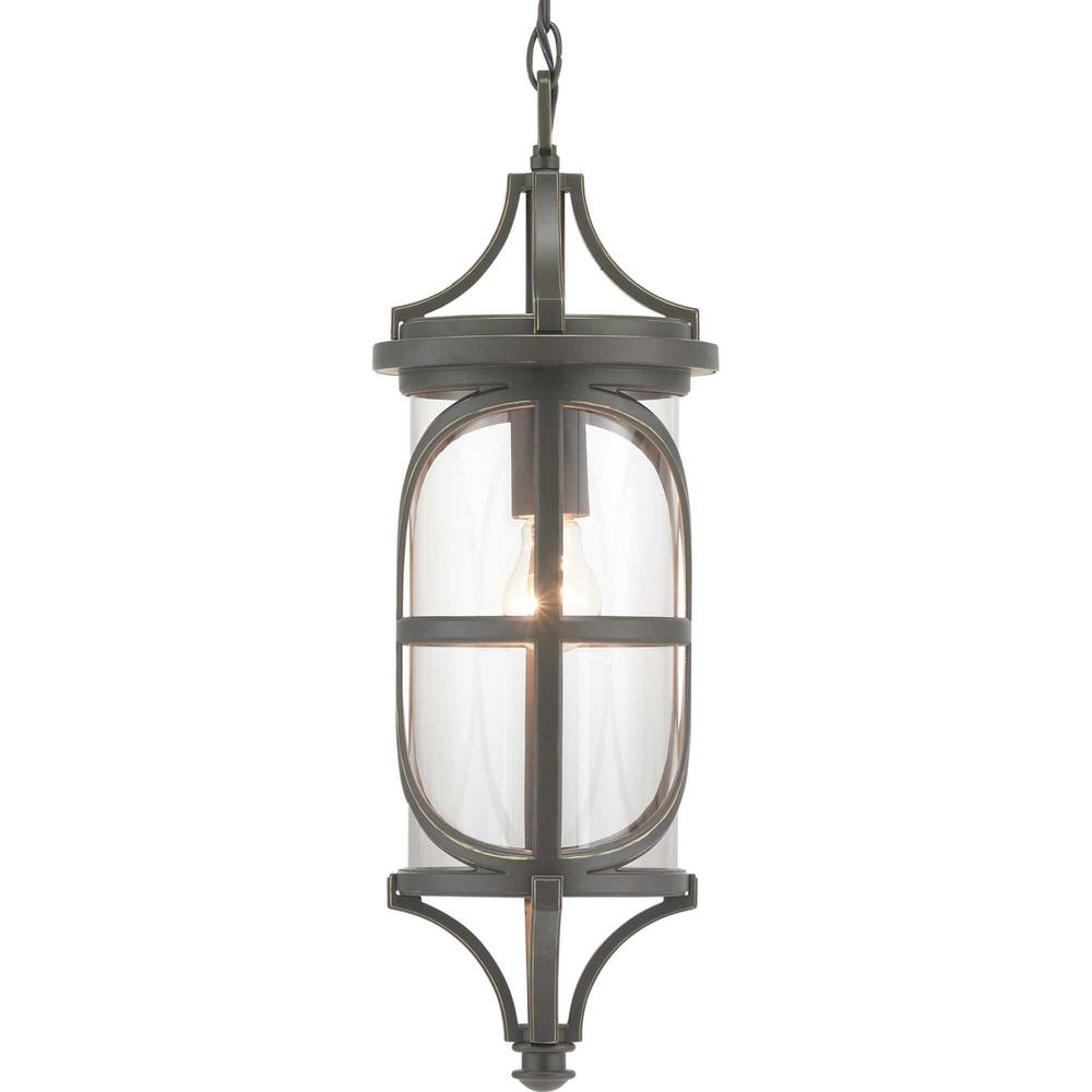 Progress Lighting Morrison Collection Antique Bronze 1-Light Hanging Lantern
