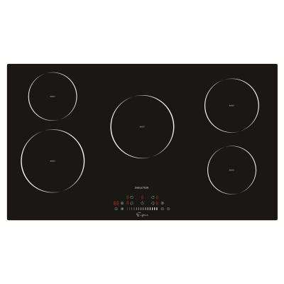 36 in. Electric Stove Induction Cooktop in Black 5 Elements Booster Burners Smooth Surface Tempered Glass