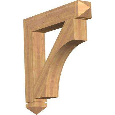 5.5 in. x 36 in. x 36 in. Western Red Cedar Westlake Arts and Crafts Smooth Bracket
