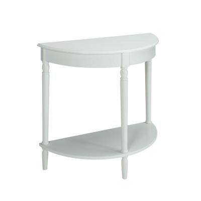 French Country 30 in. H White Entryway Table