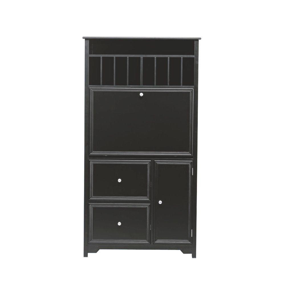 Home Decorators Collection 32 in. Rectangular Black 2 Drawer Secretary Desk with Solid Wood Material was $498.75 now $299.25 (40.0% off)