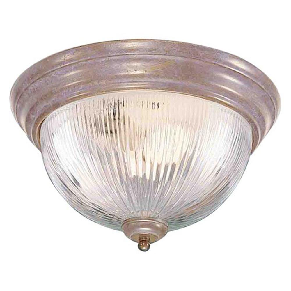 Filament Design Lenor 3-Light Prairie Rock Incandescent Ceiling Flush Mount