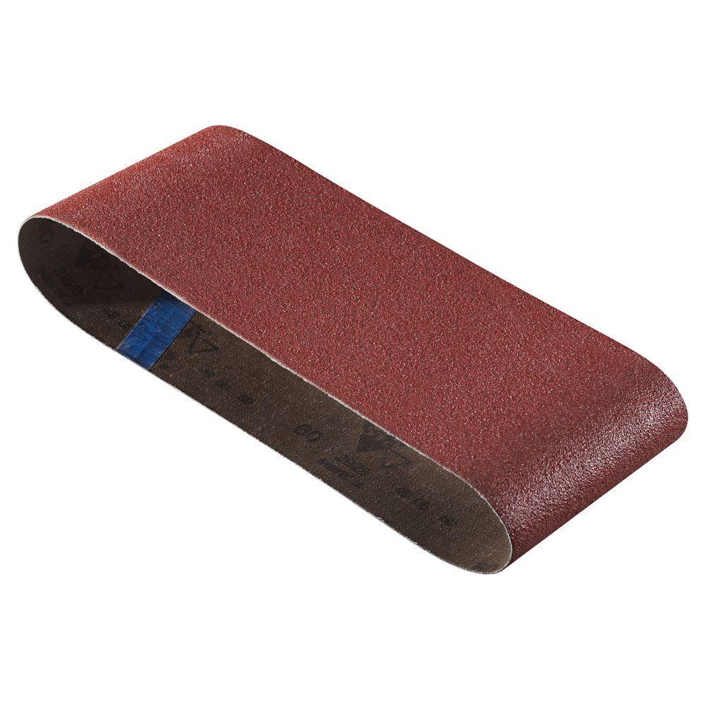 Bosch 4 inch x 24 inch 40-Grit Red Sanding Belt (3-Pack) by Bosch