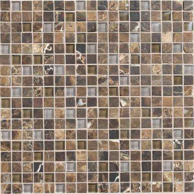 Stone Radiance Wisteria 12 in. x 12 in. x 8 mm Glass and Stone Mosaic Blend Wall Tile (1 sq. ft. / piece)