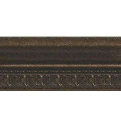 Grand Baroque 1 in. x 6 in. x 96 in. Wood Ceiling Crown Molding in Smoked Pewter