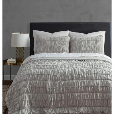 Ultra 3-Piece Taupe King Quilt Set