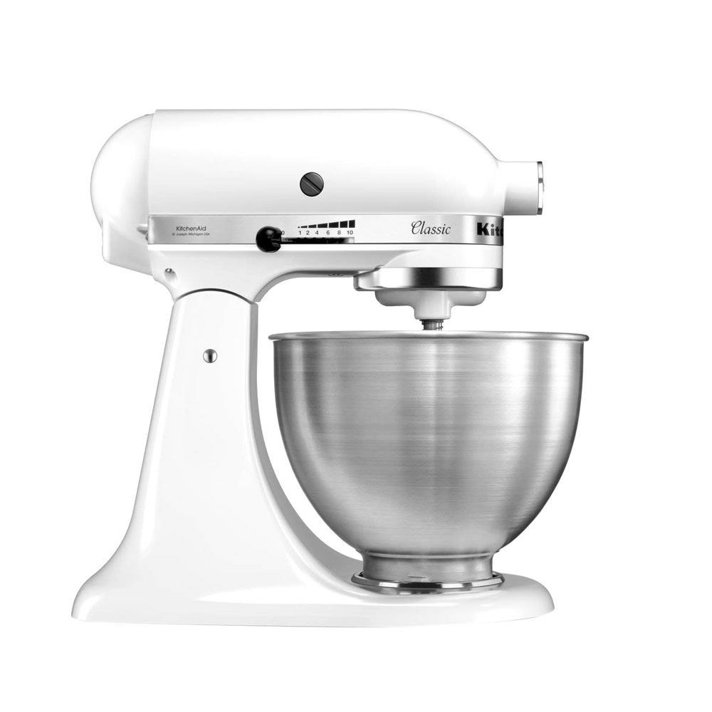 kitchenaid classic 4 5 qt tilt head white stand mixer k45sswh the rh homedepot com