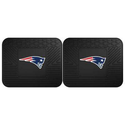 NFL New England Patriots Black Heavy Duty 2-Piece 14 in. x 17 in. Vinyl Utility Mat