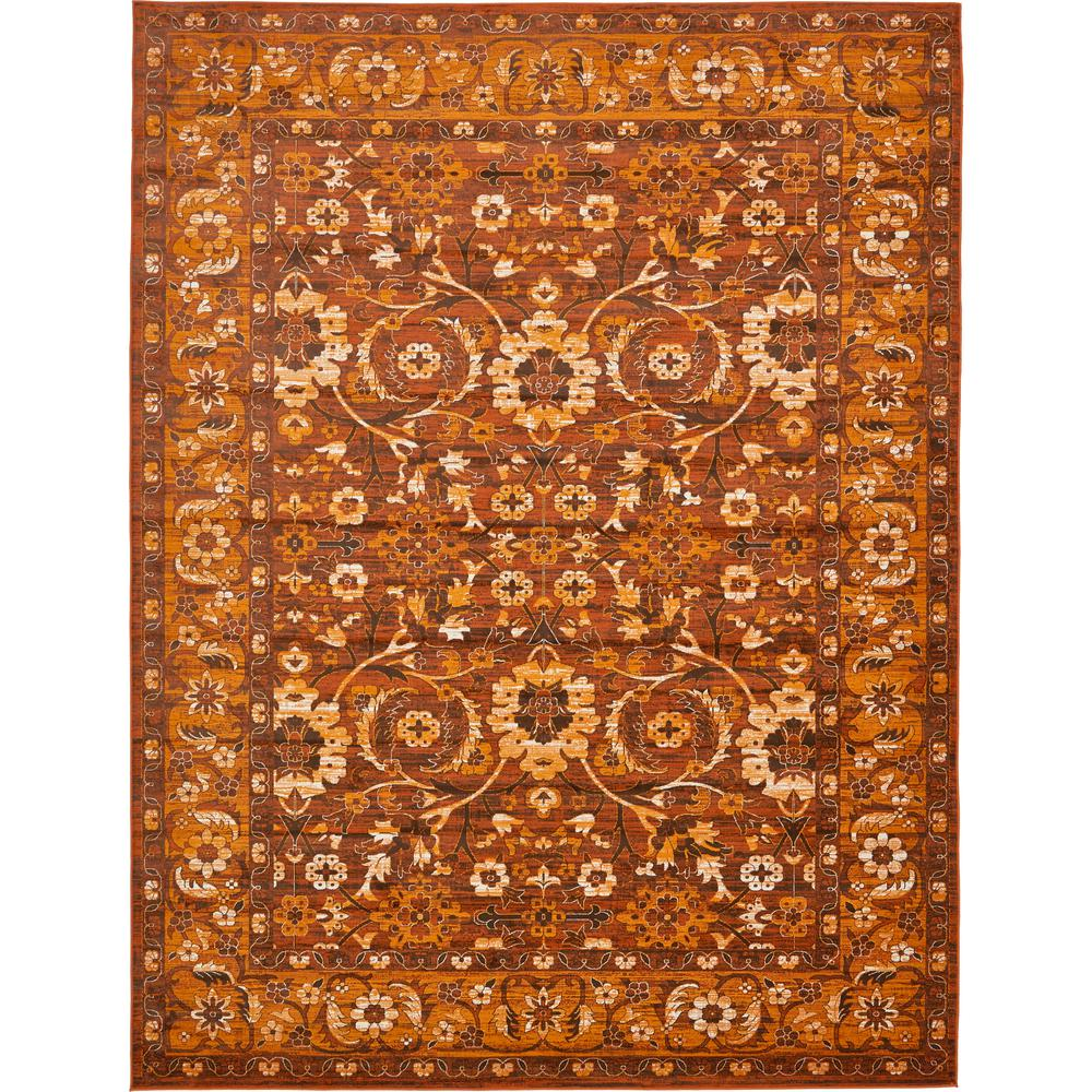 Unique loom istanbul chocolate brown 10 ft x 13 ft area rug 3134834 the home depot for Chocolate brown bathroom rugs