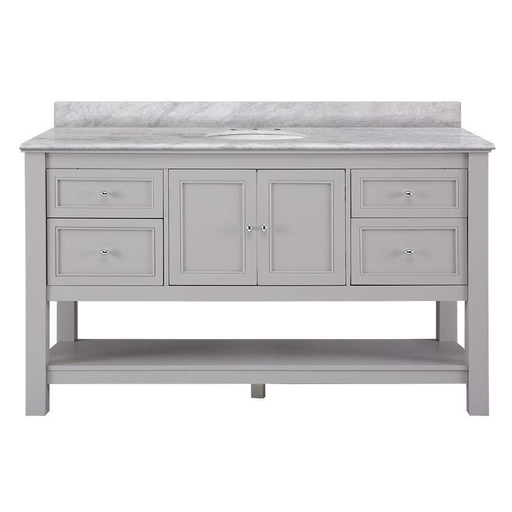 in double vanity home dark depot collection hazelton antique grey decorators x foremost bath top p with tops vanities granite w d