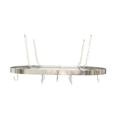 Oval Hanging Ceiling Pot Rack-Stainless Steel