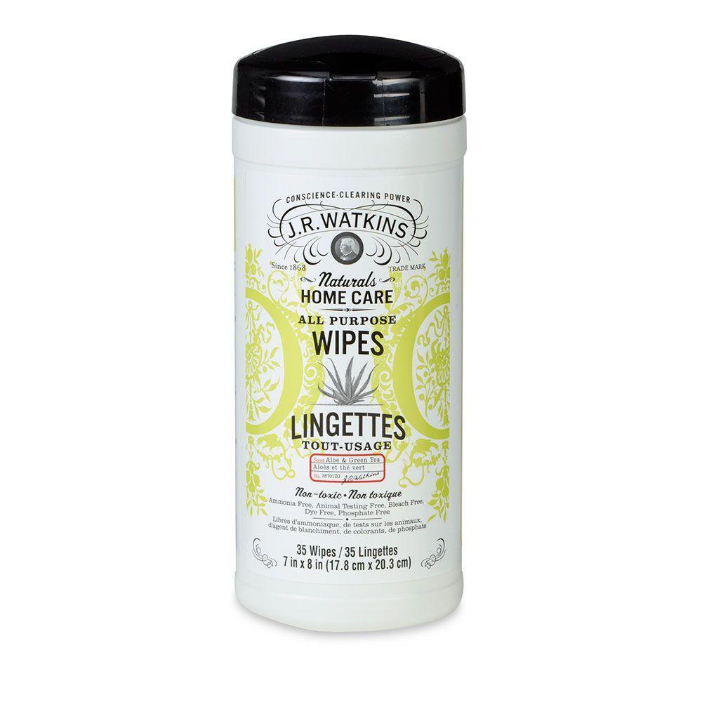 J R Watkins Aloe and Green Tea All-Purpose Wipes
