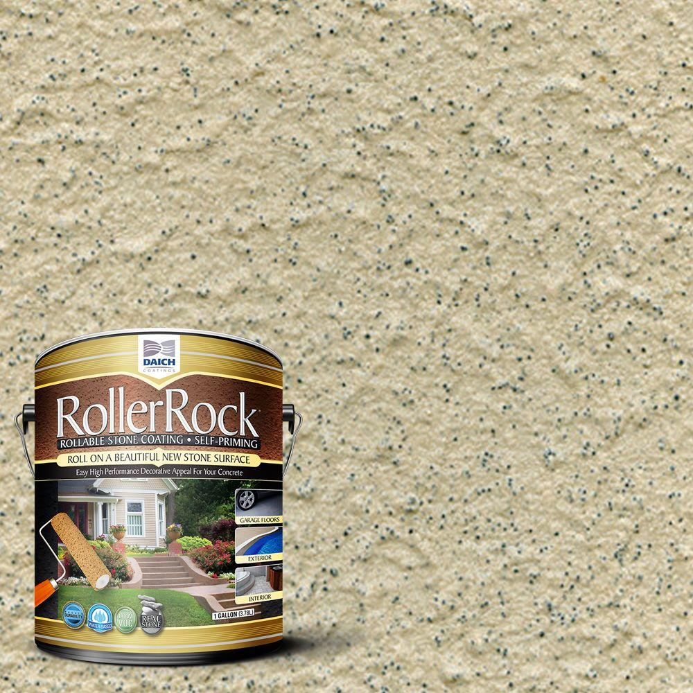 DAICH RollerRock 1 Gal. Self-Priming Pebblestone Exterior Concrete Coating