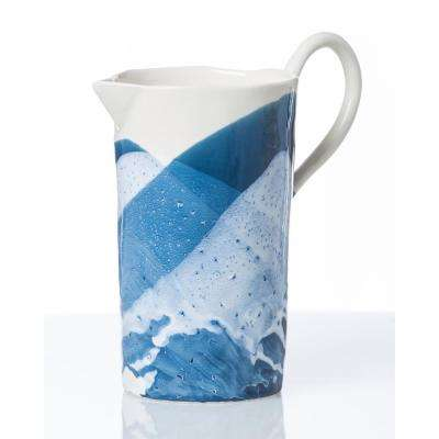 Splash Blue & White Pitcher