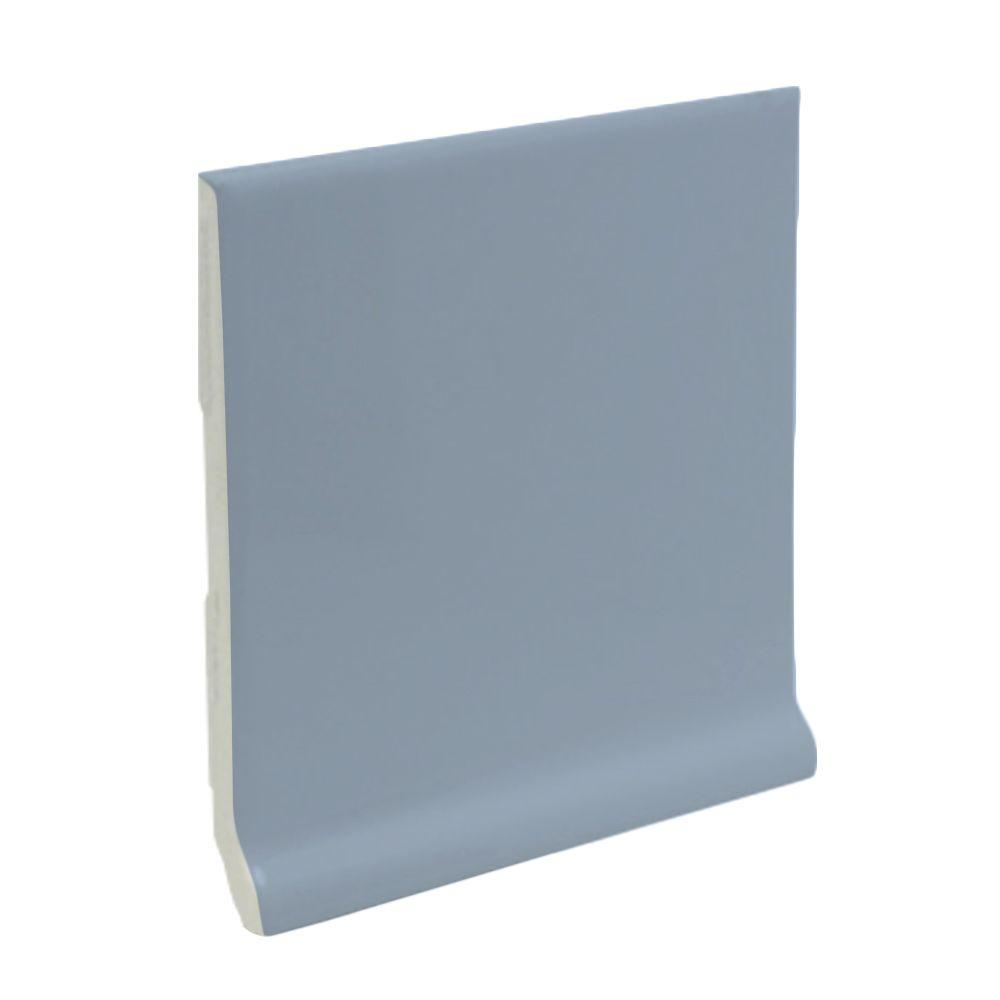 U.S. Ceramic Tile Bright Dusk 6 in. x 6 in. Ceramic Stackable /Finished Cove Base Wall Tile-DISCONTINUED