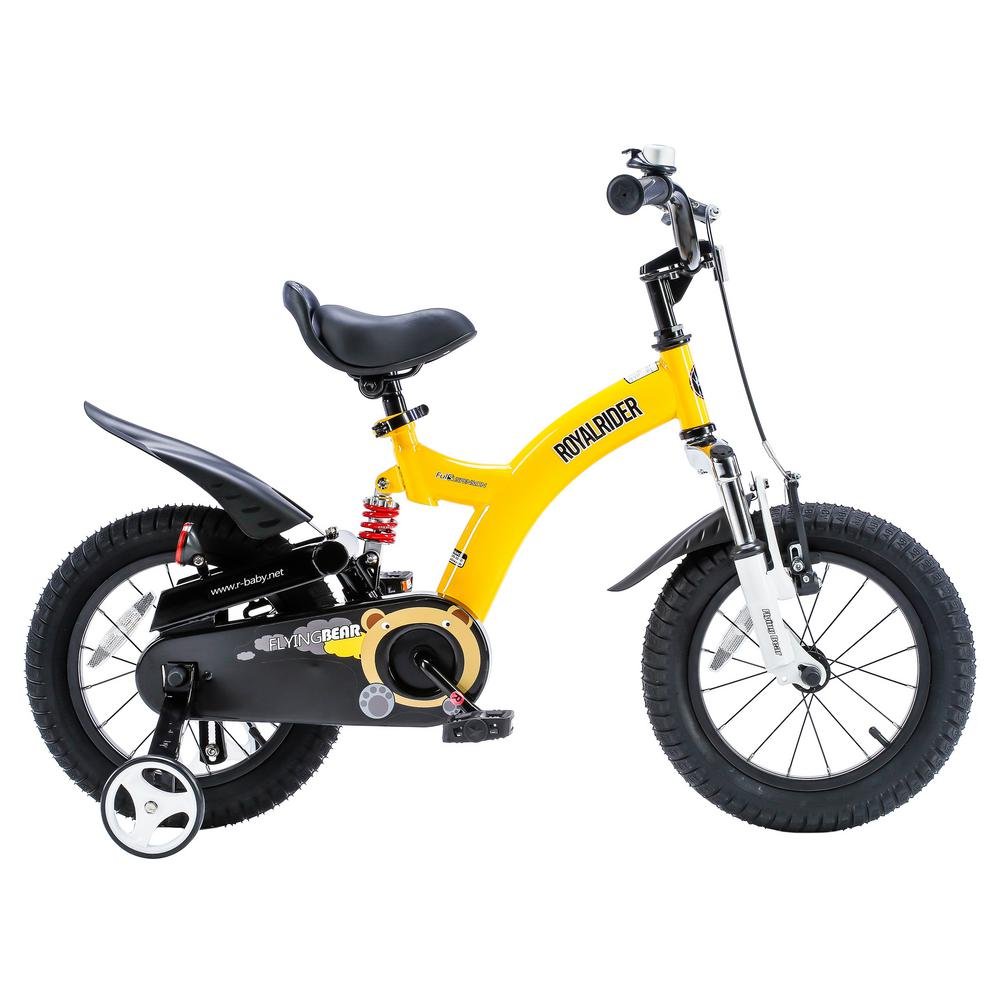 Flying Bear 12 in. Yellow Kids Bicycle