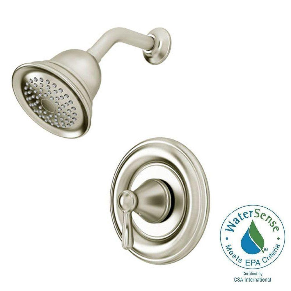 American Standard Marquette Single-Handle 1-Spray Shower Faucet in Satin Nickel (Valve Included)