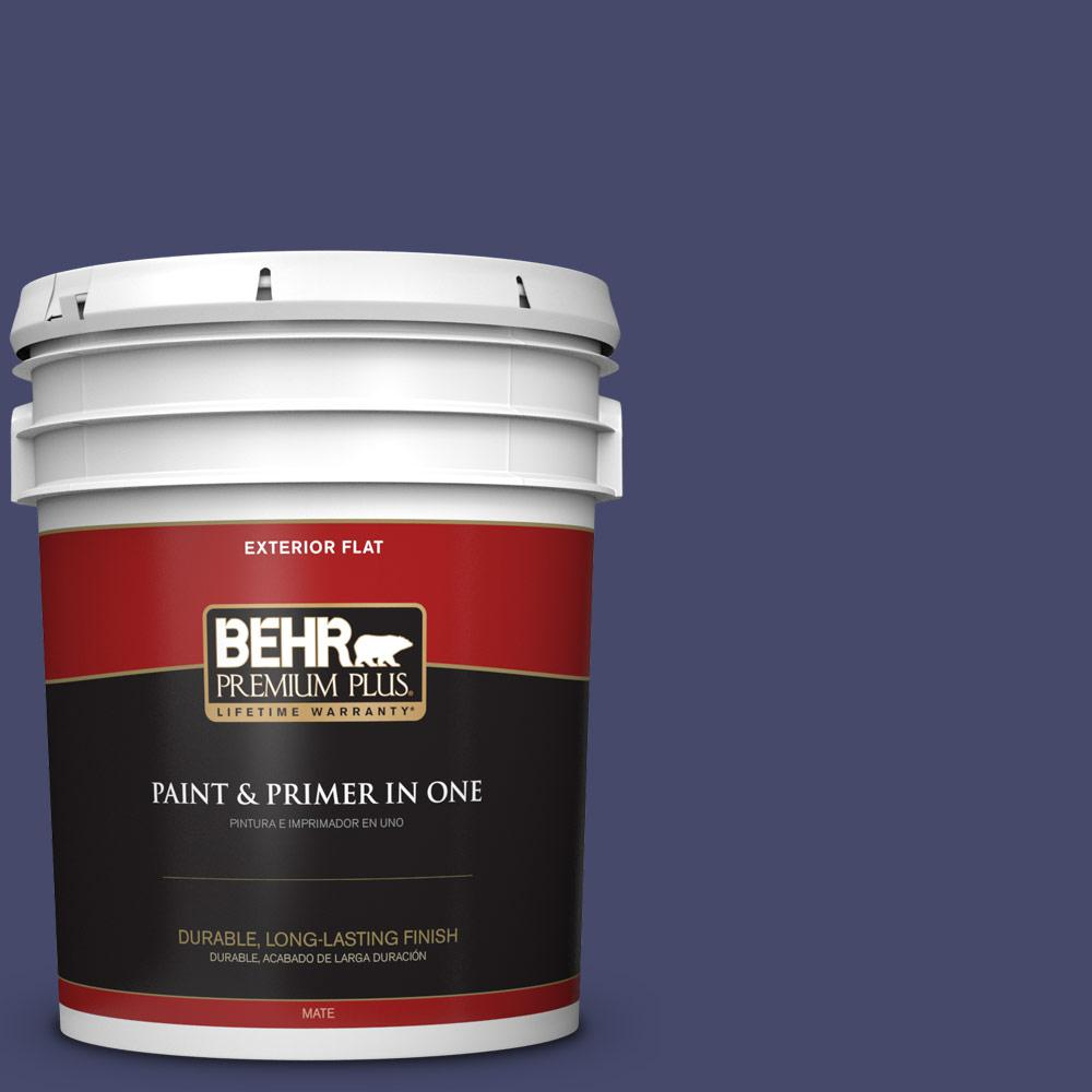 5 gal. #PPU15-01 Nobility Blue Flat Exterior Paint