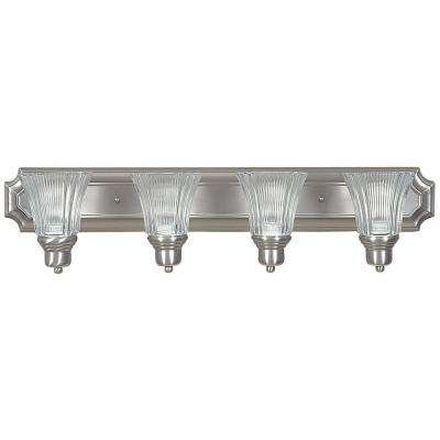 Nevaeh 4-Light Satin Nickel Bath Light