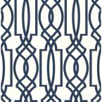 Deco Lattice Vinyl Peelable Wallpaper (Covers 30.75 sq. ft.)