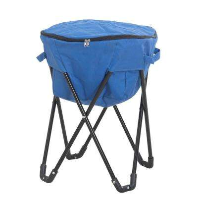 27 qt. Blue Foldable Soft-Side Cooler