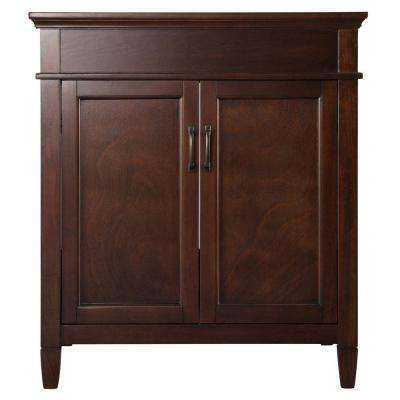 Ashburn 30 in. W Bath Vanity Cabinet Only in Mahogany