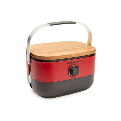 Venture Portable Propane Gas Grill in Red
