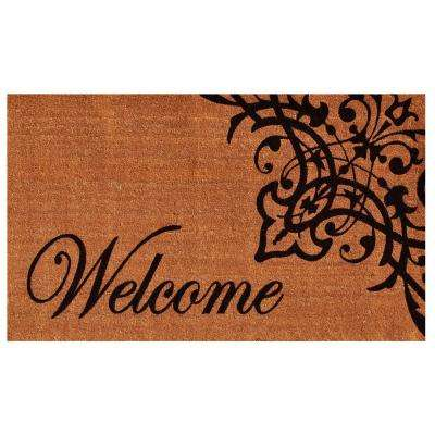 Scroll Welcome 24 in. x 36 in. Door Mat