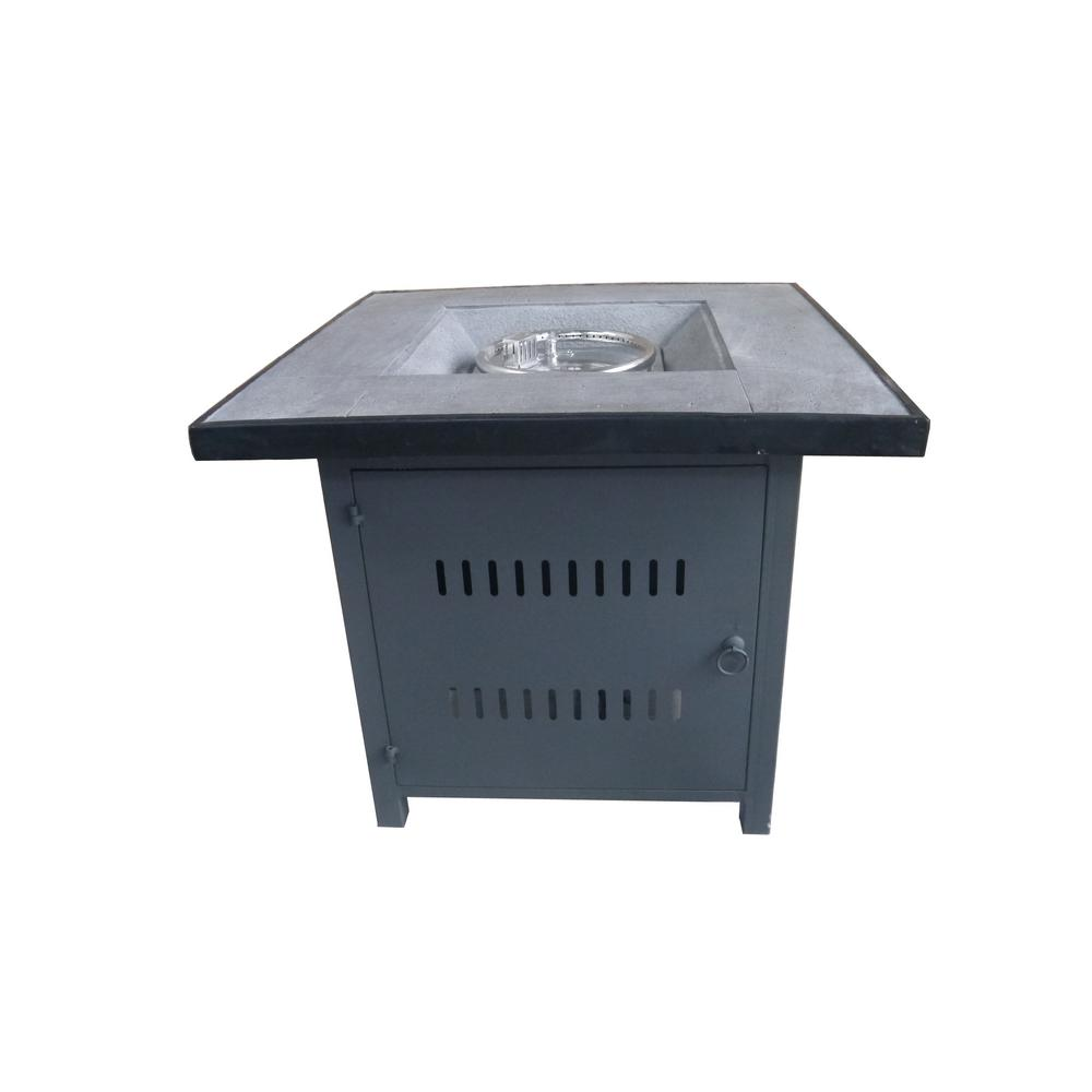Crawford & Burke Nicoya 29.9 in. Square Steel Gas Outdoor Fire Pit ...