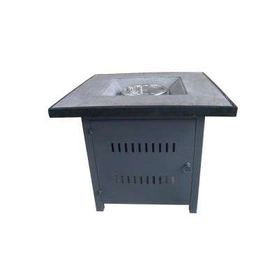 Nicoya 29.9 in. Square Steel Gas Outdoor Fire Pit in Brown and Gray