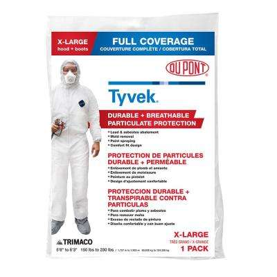 DuPont Tyvek XL Painters Coveralls with Hood and Boots (Case of 12)